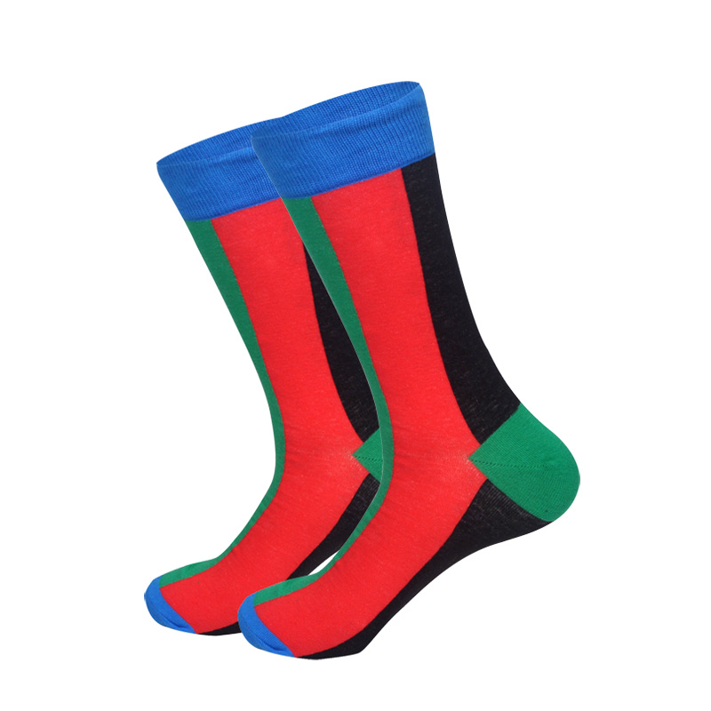 Downstairs Men Socks Individual Character Designs for Mens 21Colors Beer Clown Dinosaurs French Fries Funny Pattern Dress Calcetines in Men 39 s Socks from Underwear amp Sleepwears