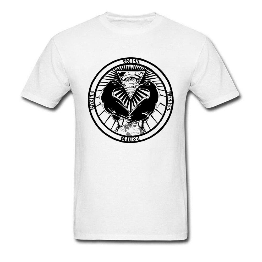 Huginn And Muninn Father Day 100% Cotton Crewneck Tees Short Sleeve Design Clothing Shirt Funky Design T Shirt