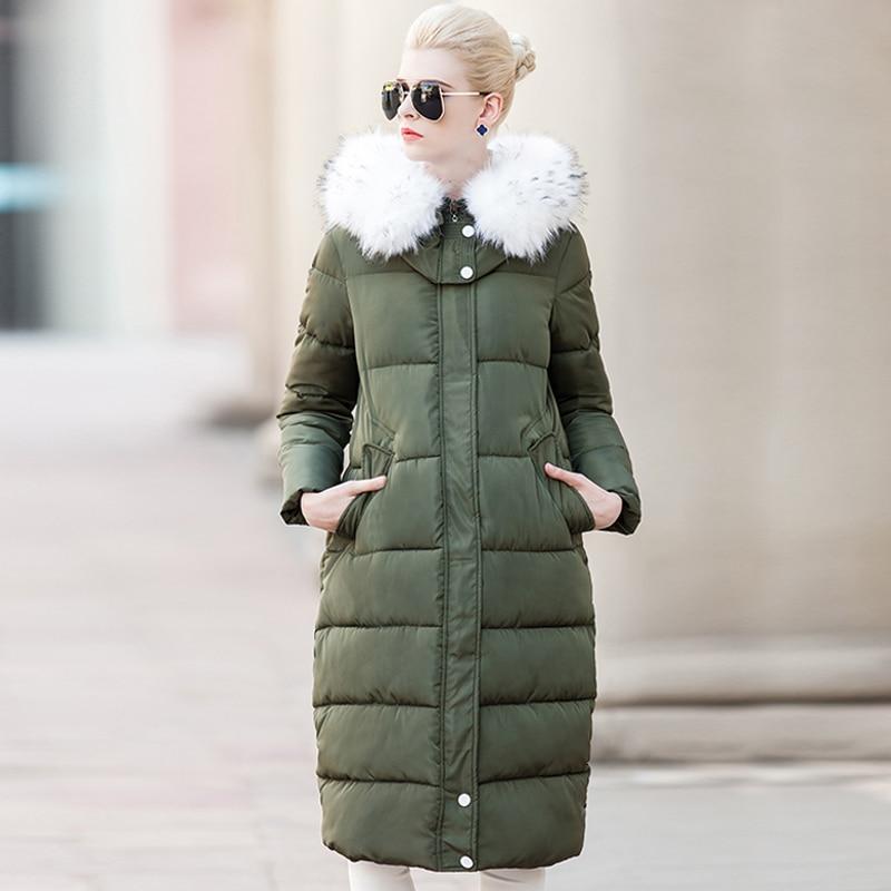 Winter Jacket Women Down Parka 2016 Womens Down Jackets Thick Down Jacket Coat Big Fur Collar Hooded Padded Jacket Female Parkas