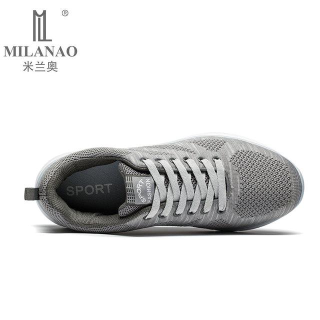2016 MILANAO New Sports Flyknit Racer Running Shoes For Men & Women . Breathable Men's Athletic Sneakers Krasovki zapatillas