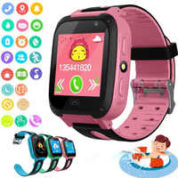 Anti-lost Kids Safe GPS LBS Location Tracker SOS Call Smart Watch with Camera Boy Blue Pink Children Watches Girls