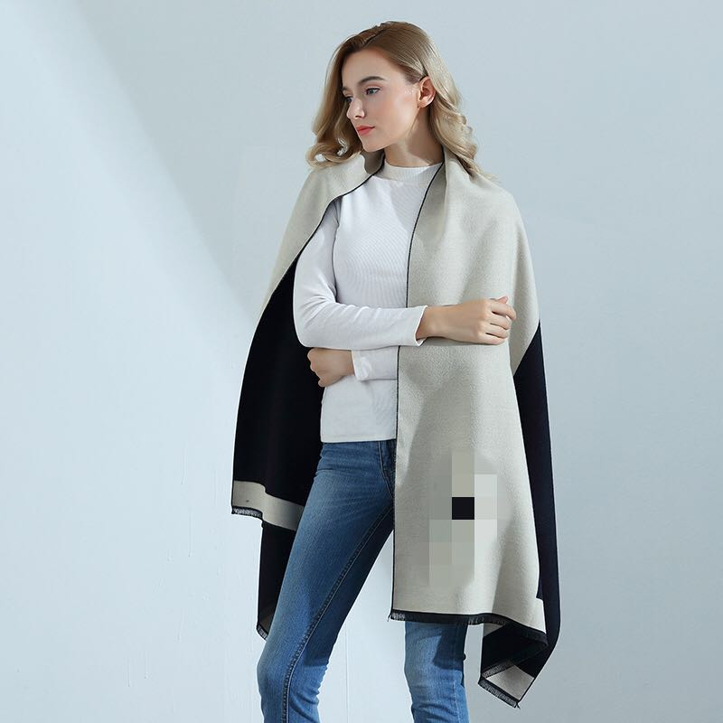 2017 Autumn Winter High-quality Cashmere Scarf Lady Thick Was