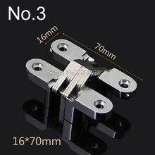 Top Designed 16*70mm Invisible Concealed Cross Door Hinge Zinc Alloy Hidden Hinge Bearing 20KG For Folding Door Hidden Door K97