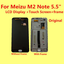 Original for Meizu M2 Note MTK6753 M571U LCD Display +Touch Screen+ frame+Tools tested Digitizer Glass Lens Assembly Replacement