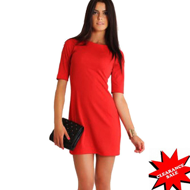 d187f9c2 US $13.71 30% OFF|Aamikast 2017 Fashion Sexy Solid Color Summer Mini Dress  Tight Women Dress Casual Multi Color Short Sleeves d0353-in Dresses from ...