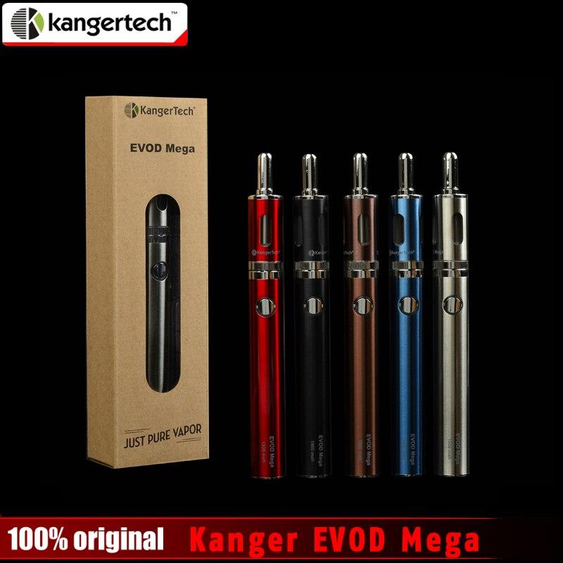 100% Original Kangertech Evod Mega Kit 2,5 ml 1900 mah Batterie mit Micro Usb-kabel Evod Mega Elektronische Zigarette Starter Kits