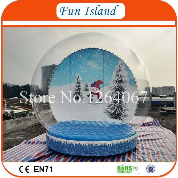 Free Shipping 4m Clear Snow Glob For Christmas,Giant Snow Globe Inflatable,Inflatable Snow Globe On Promotion 3m diameter empty inflatable snow ball for advertisement christmas decorations giant inflatable snow globe