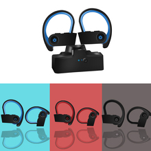 Bluetooth 5.0 TWS Ear-Hook Headset True HD Stereo HiFi Wireless Replaceable Noise Cancelling Headphones mpow h1 wireless headphones hd hifi stereo noise cancelling headphones with microphone over ear bluetooth headset for iphone