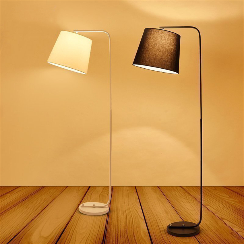 Modern LED Iron Floor Lamps Lights Bedroom Living Room Bedside Study Reading Lighting Standing Lamps Lights Fixtures Decoration chinese cloth floor lamps modern living room bedroom bedside lamp study hotel white decorations lighting floor lights za