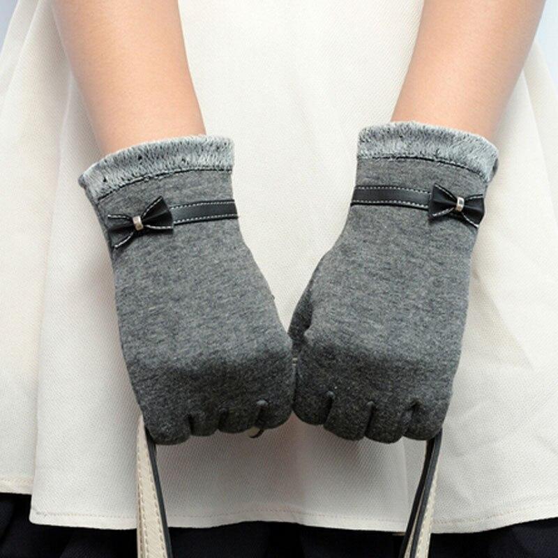 Grijs 2016 Nieuwe Leuke Vrouwen Winter Warm Geweven Knit Klik Touch Screen Handschoenen Voor Mobiele Telefoon Leuke Duidelijke Textuur