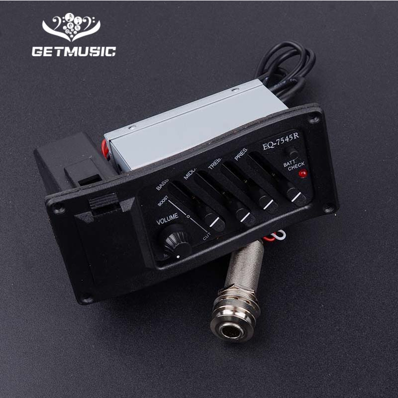 10 Pcs 4 Band Acoustic Guitar EQ Preamp Equalizer EQ 7545R Pickup Amplifier 6 5MM Output