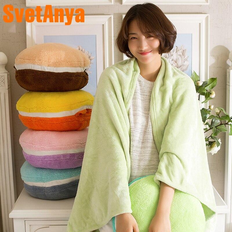 Svetanya Fleece Blanket and Hand Warmer 110x160cm Cushion Pillow Plush Hand Hold Warm
