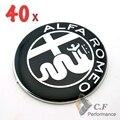 40 ШТ. Логотип Alfa Romeo GTV 916 & Паук 73 мм Передняя Капот Автомобиля Знак Подлинной Автомобиль Эмблемы #461