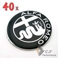 40PC Alfa Romeo Logo 916 GTV & Spider 73mm Front Hood Bonnet Car Badge Genuine Car Emblem # 461
