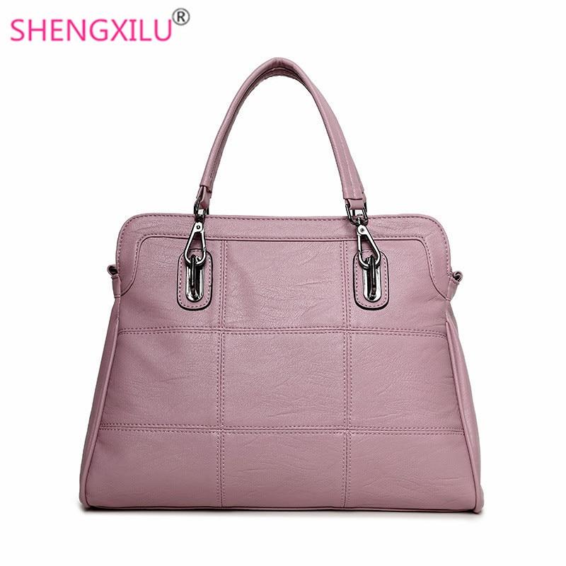 Shengxilu genuine leather women handbags spring female shoulder bag fashion ladi