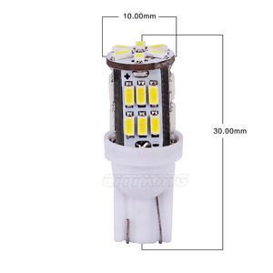 Image 2 - Free Shipping 100pcs T10 led 30smd 3014 SMD Car Bulb Car Auto LED T10 30led 194 W5W  Wedge Light Bulb Lamp t10 30SMD White light