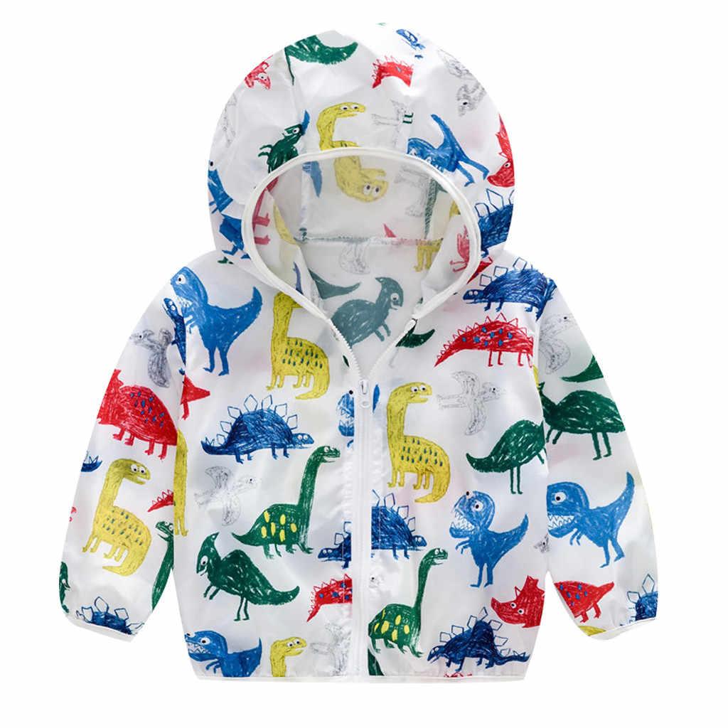 Niño lindo dibujos animados primavera niños abrigo otoño niños chaqueta niños prendas de vestir exteriores con cremallera abrigos con capucha Niño rompevientos ropa de bebé