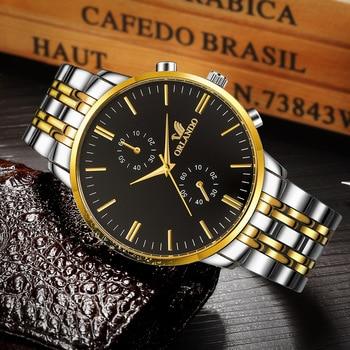 Luxury Orlando Clock Stainless Steel Men's Watch 3