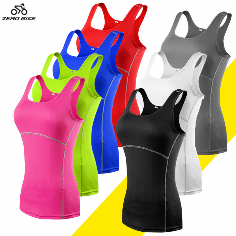 ZEROBIKE Women's Sports Cycling Vest Undershirt Quick Dry Breathable Soft Sleeveless Jerseys Bike Ropa Ciclismo Plus Size Hot