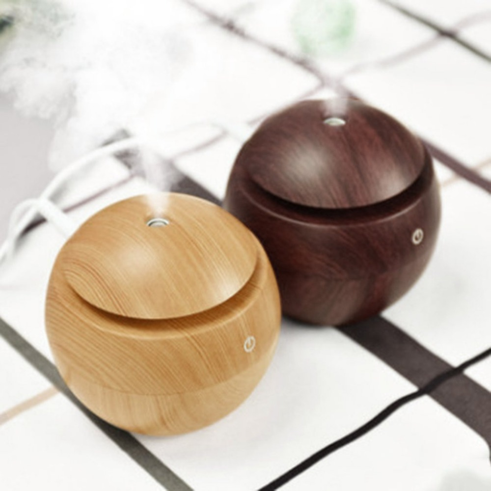 130ML Portable Size Wooden Home Office Aroma Essential Oil Diffuser Ultrasonic USB Rechargeable Mist Humidifier