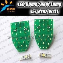 Высокая яркость LED Купол Крыши Лампы интерьер Автомобиля лампа Для Чтения лампы для Benz W211, 7000 К белый светодиодные лампы