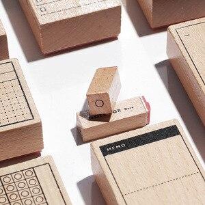Планировщик блокнот декоративные деревянные штампы цифры часы круг отметка символ памятки знак деревянный штамп Скрапбукинг DIY хобби ремесло