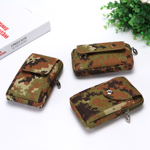 Camouflage men blet waist bag Wearresistant oxford Multifunction outdoor phone cigarette money wallet casual High Quality purse