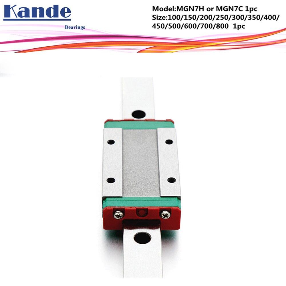 все цены на MGN7 CNC 7mm miniature linear rail guide MGN7C L 700mm 800 mm MGN7C linear block carriage or MGN7H narrow carriage онлайн