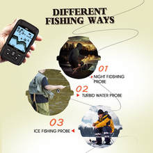 LUCKY FF718LiD Waterproof Wireless Fish Finder 200KHz/83KHz Dual Sonar Frequency Sonar & Wired Transducer Alarm Fish Detector