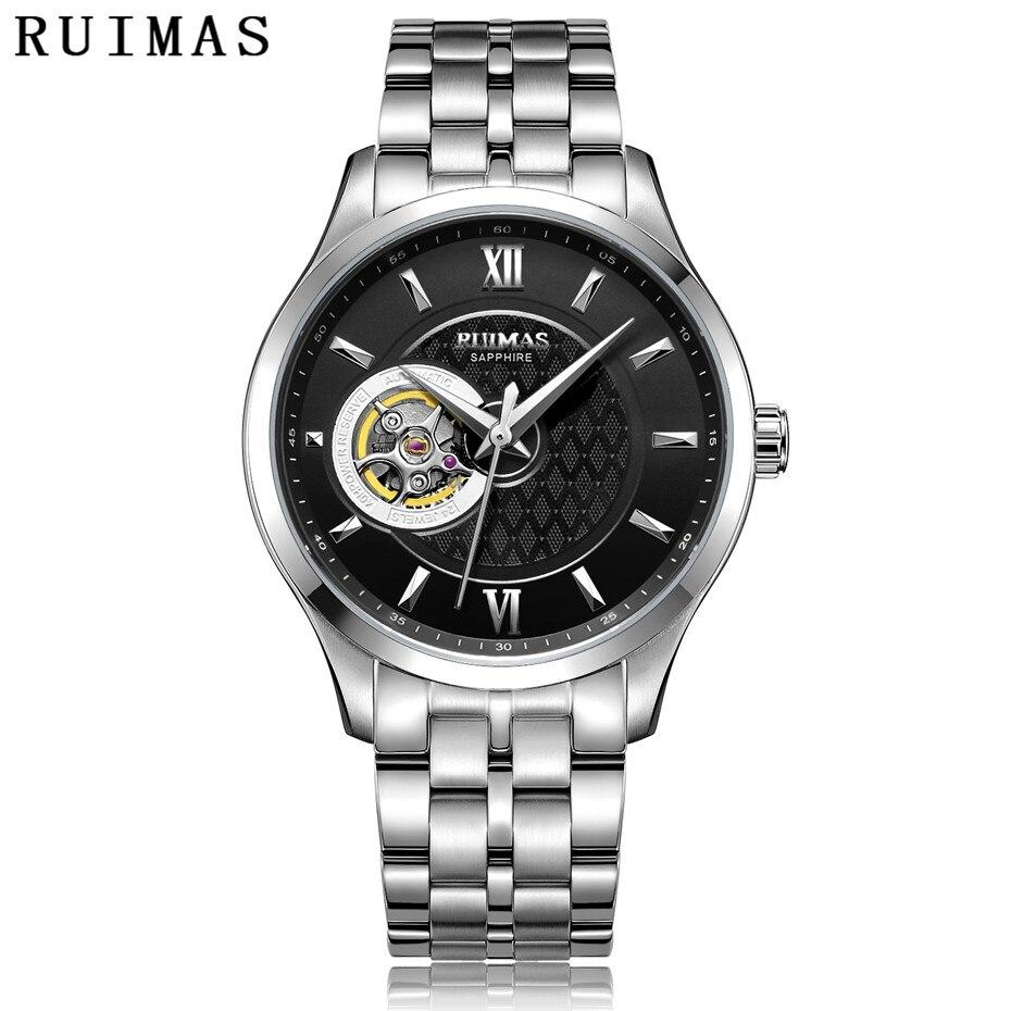 Hommes Classique De Luxe Montre Mécanique Mâle D'affaires Décontractée Haute Qualité Montres avec NH38 Marque RUIMAS Horloge Montre Homme