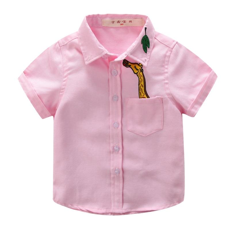 Baby Boys Shirts White Pink Blue Yellow Boy Shirt Short Sleeve ...