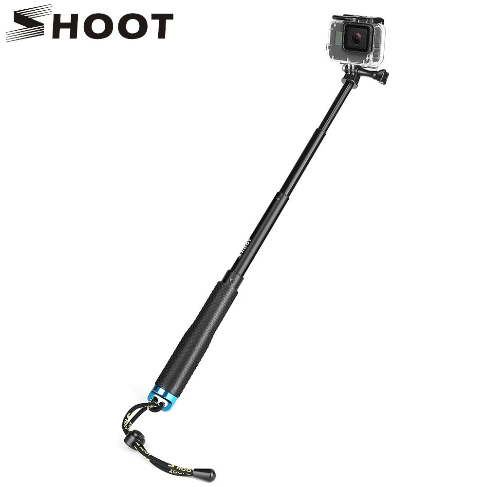 SHOOT 19-49cm Portable Selfie Stick Extend Monopod For Gopro Hero 5 6 4 3 Session Xiaomi Yi 4K SJCAM SJ4000 Eken h9 Camera