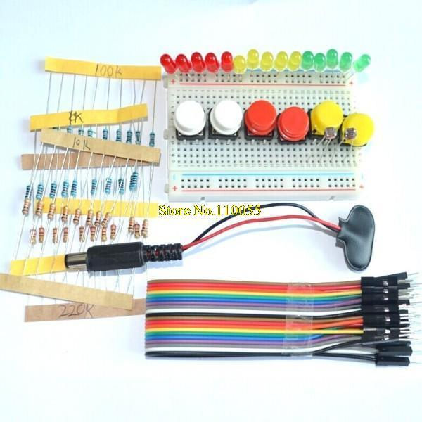 new Starter Kit for UNO R3 mini Breadboard LED jumper wire button for