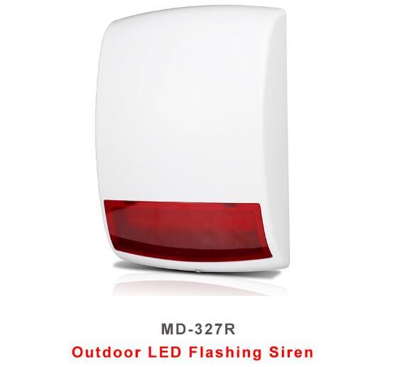 Au Lithium Batterie Fonctionner sans fil En Plein Air Stroboscopique Clignotant Sirène D'alarme Sans Fil Sirène extérieure Strobe Siren