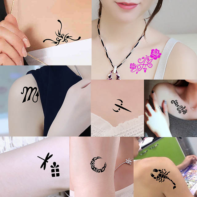 Online Shop 1 Sheet Small Henna Tattoo Indian Stencil Music Play