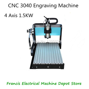 цена на 800W Small 4 Axis CNC 3040 Engraving Machine Cnc Router 1.5KW MACH 3 Engraving Machine Water-Cooling Type