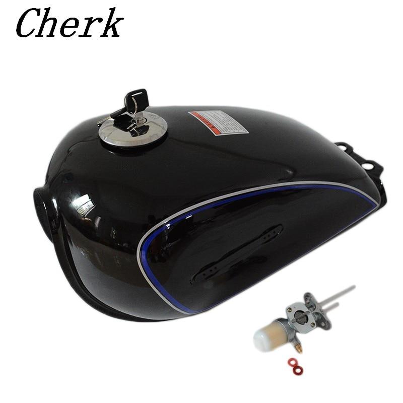 New Motorcycle Black Cafe Racer Gas Tank Universal Iron