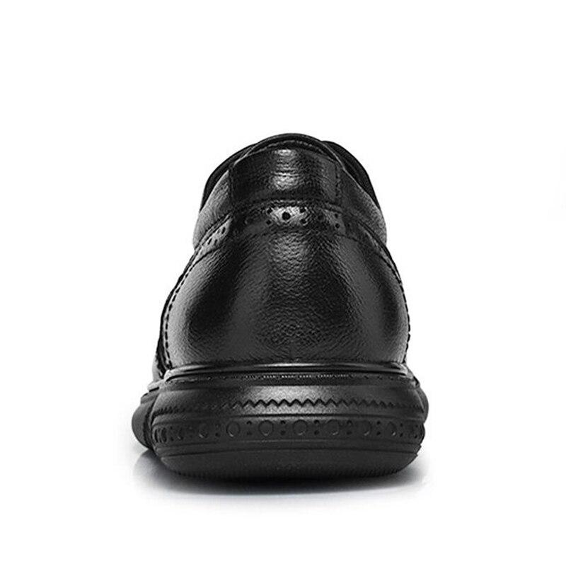 Moda 46 Up Lace Ocio Cuero Respirable Calzado Brogue Negro Casual Lebaluka 38 Hombres Tamaño Del De Zapatos Clásicos Real Los Diarios fEwqZ7xP