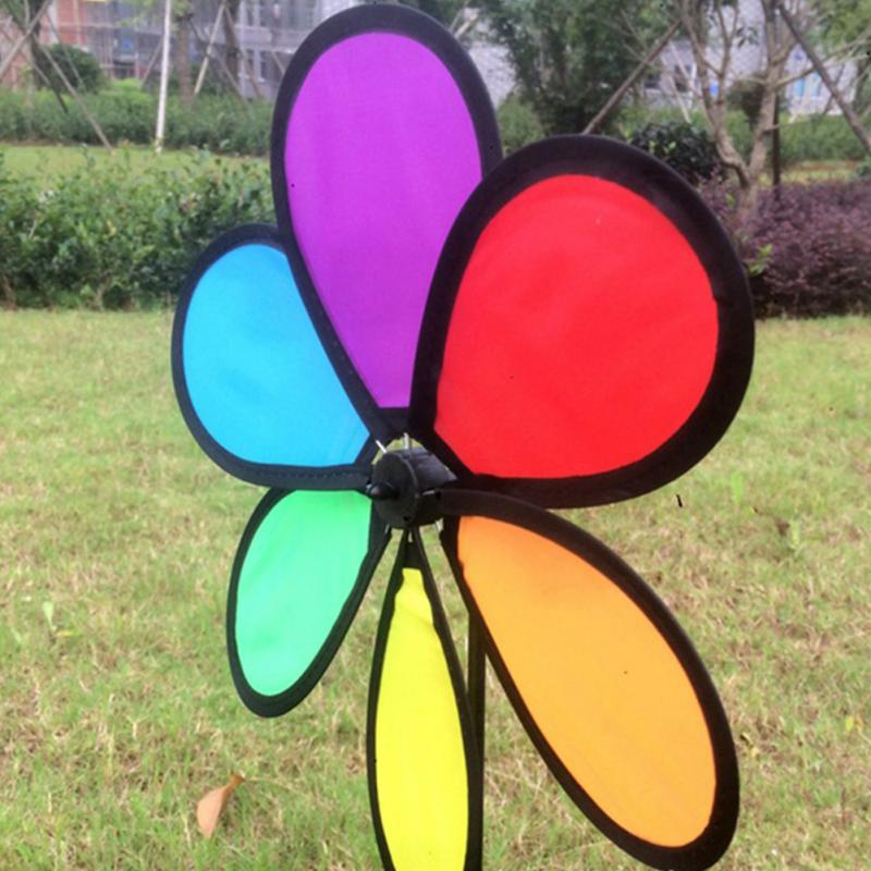 2018 New Arrivials Colorful Rainbow Dazy Flower Spinner Wind Windmill Garden Yard Outdoor Decor Kids Toys