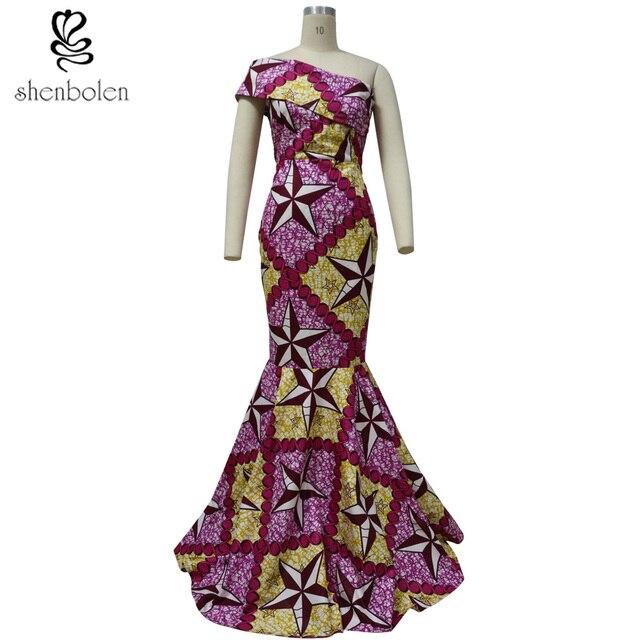 Africa Abbigliamento della signora abito da sposa vestito da sera femminile  del tessuto della cera fc981f567b95