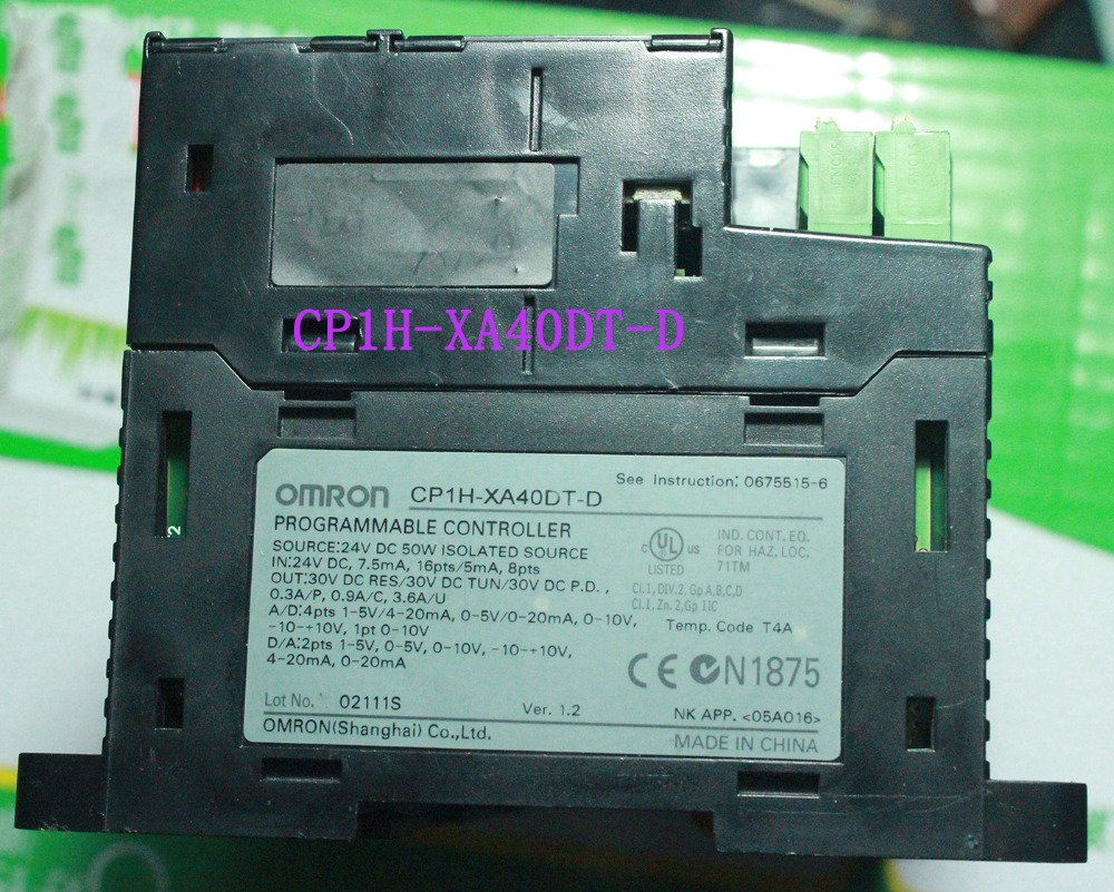 Used original cp1h xa40dt d cp1h plc controller cpu for omron sysmac 40 i