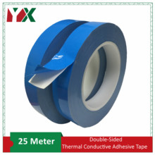 YX 25 м/рулон передачи ленты двухсторонняя термальная проводящая клейкая лента для печатная плата led полосы радиатора