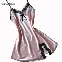 Silk Lace Women Sleepwear Ladies Sexy Lingerie Sleepdress Babydoll Nightdress Nightgown Sleepshirts Homewear 11 Color 3