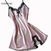 Silk Lace Women Sleepwear Ladies Sexy Lingerie Sleepdress Babydoll Nightdress   Nightgown     Sleepshirts   Homewear 11 color 3 Sizes