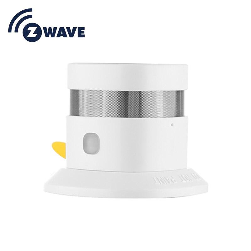 HAOZEE Heiman Z-wave Smoke Sensor Smart Home EU Version 868.42mhz Z Wave Smoke Detector Power Battery Operated