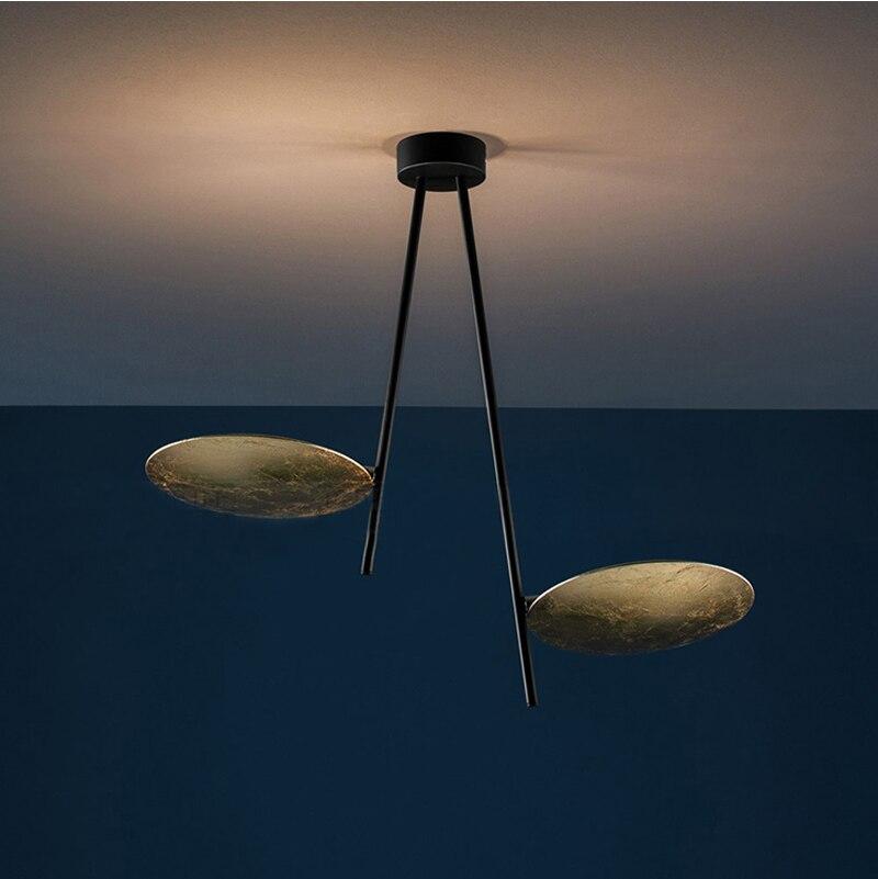 Phube éclairage italie LED moderne plafonnier hôtel projet salon éclipse feuille d'or plafonnier Lustre éclairage à la maison