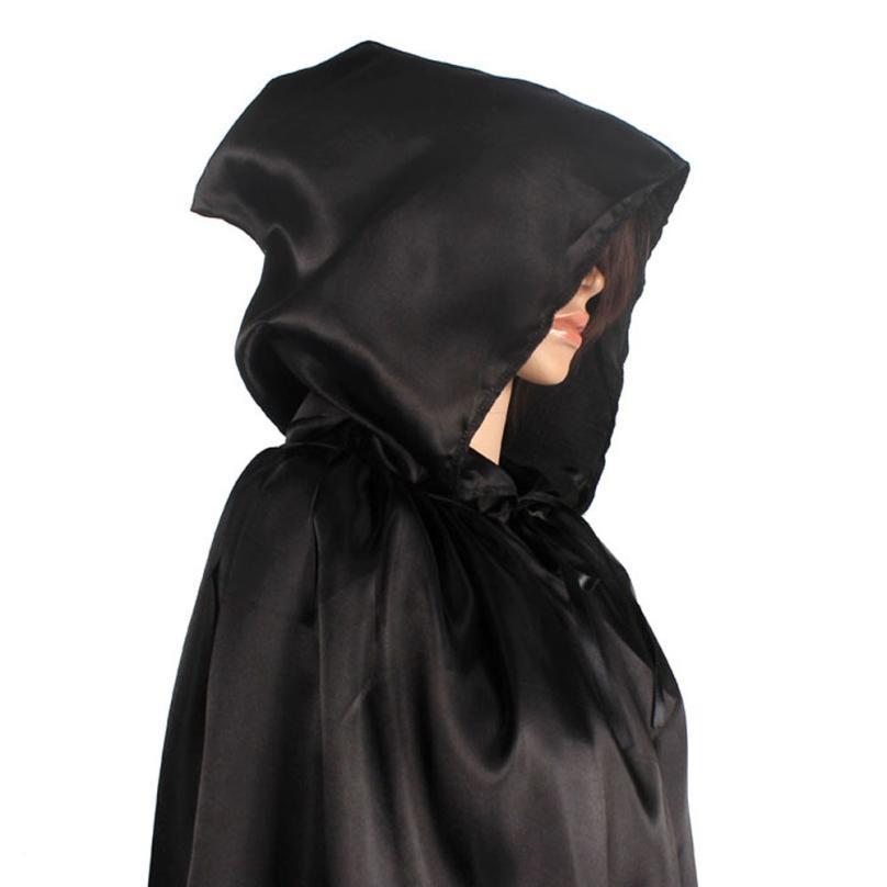 Mujeres frescas Unisex Manto Con Capucha Capa Abrigo Wicca Robe - Disfraces - foto 3