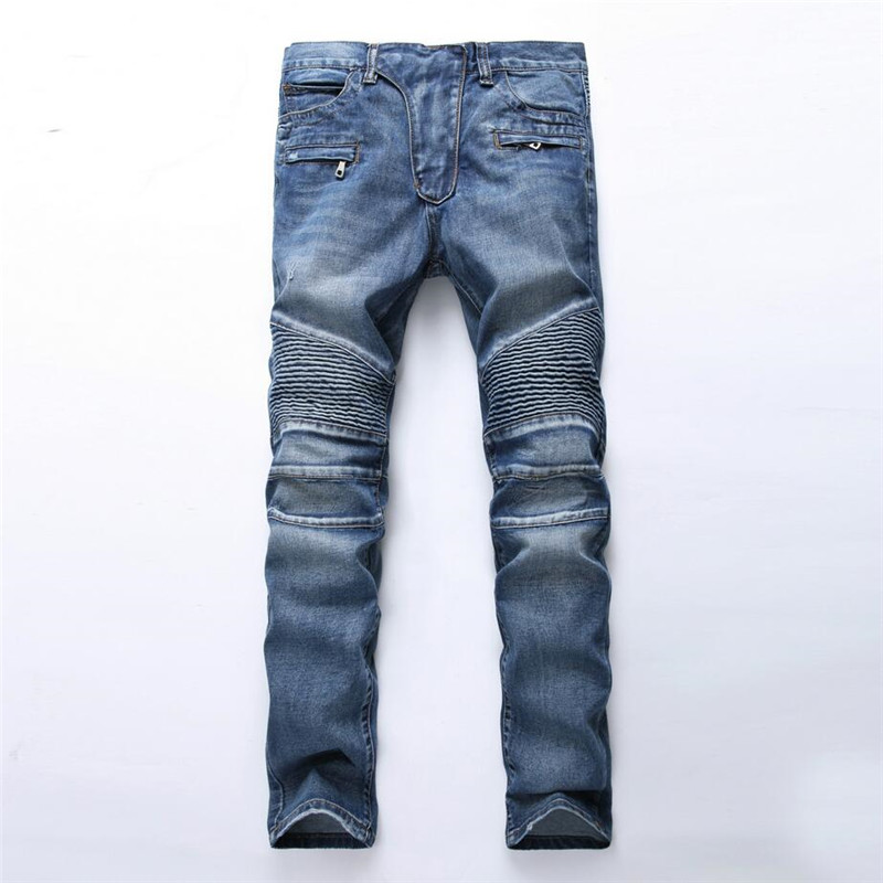 2017 New Spring Fashion Men Jeans Vintage Straight Biker Jeans Hip Hop Cotton Cozy Denim Male Skinny Bule Slim Pants Trousers men jean new 2017 slim skinny denim biker pant boyfriend hip hop trousers bule color fashion brand jeans for male e035