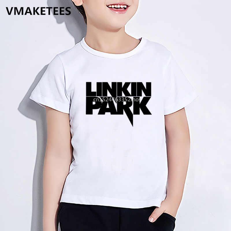 ילדים קיץ בנות ובני חולצה ילדי לינקולן לינקין פרק צ 'סטר בנינגטון הדפסת חולצה מזדמן תינוק בגדים, HKP012