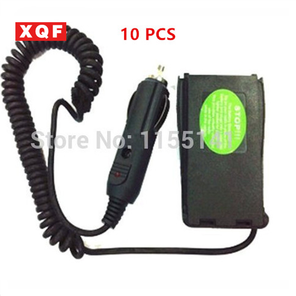 XQF 10 PCS Power Supply Charger Car Battery Eliminator Adapter Simulator for BaoFeng BF888S , BF777S, BF666S, H777 Two Way Radio
